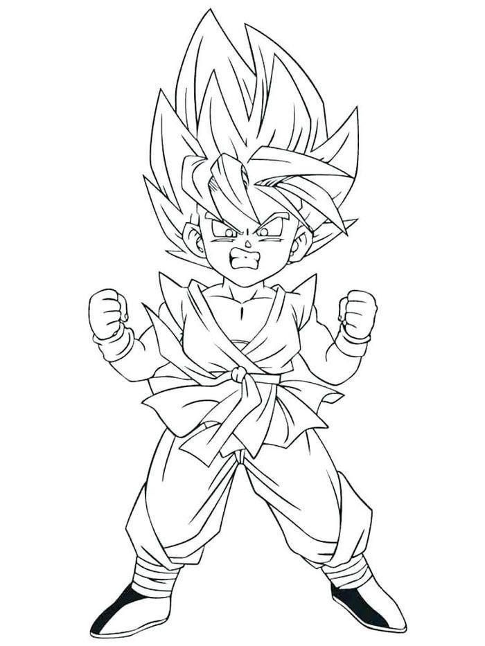 Dragon Ball Z Coloring Pages Goten Dragon Ball Art Dragon Ball Goku Dragon Ball