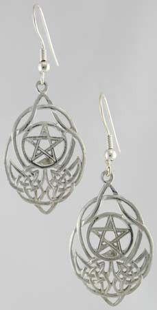 Love these! i want them Celtic Knot Pentagram Earrings $15.95