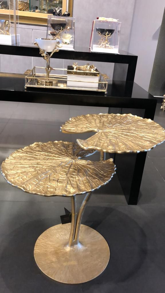 Water Lily Side Table Gold In 2020 Table Luxury Table Side Table