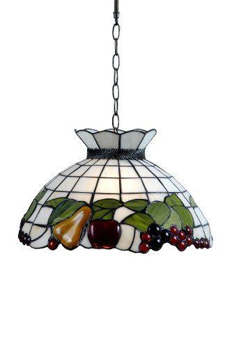 Lámpara De Techo Colgante Tiffany Frutas - $ 2.170,00