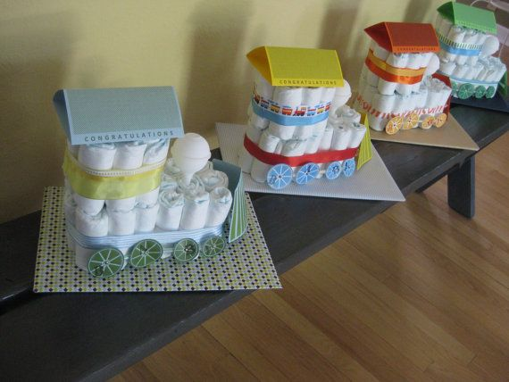 Diaper Train - Brand New Original Design - haven't seen these before! So super cute for a little baby boy.