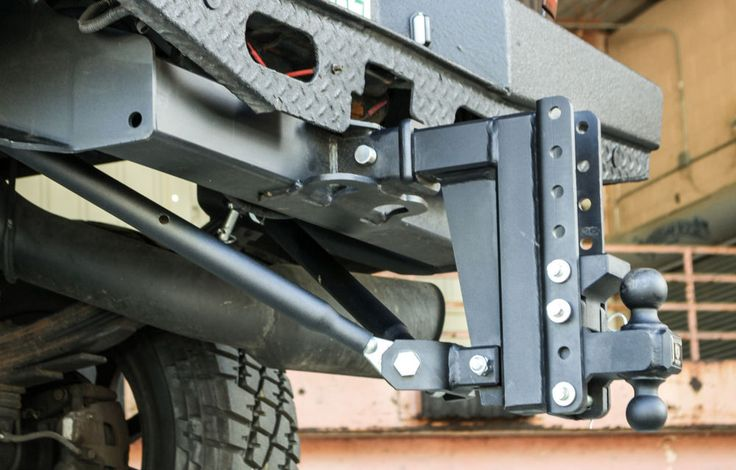 Frame-Mounted Adjustable Hitch Stabilizer Bars for Bulletproof Hitches #BulletproofHitches