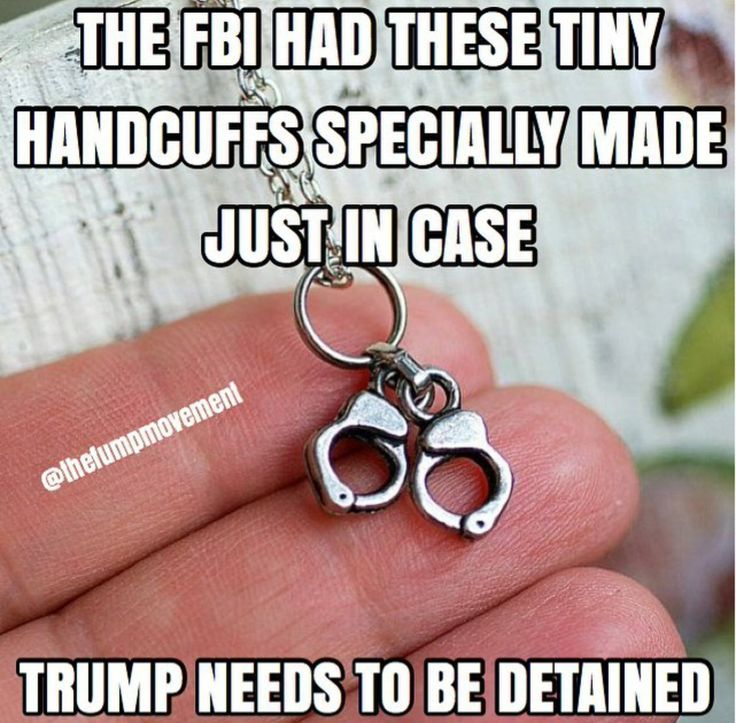 The FBI had these ting handcuffs specially made just in case Trump needs to be detained.