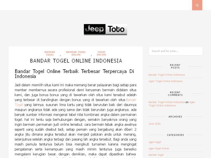 Bandar Togel Online Indonesia