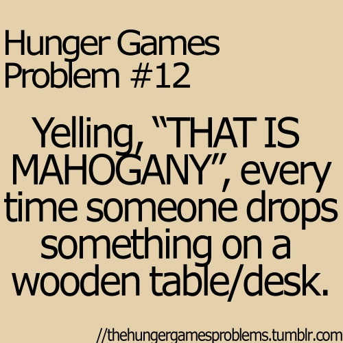 The fear on the faces of non-THG fans makes this worth it every time...