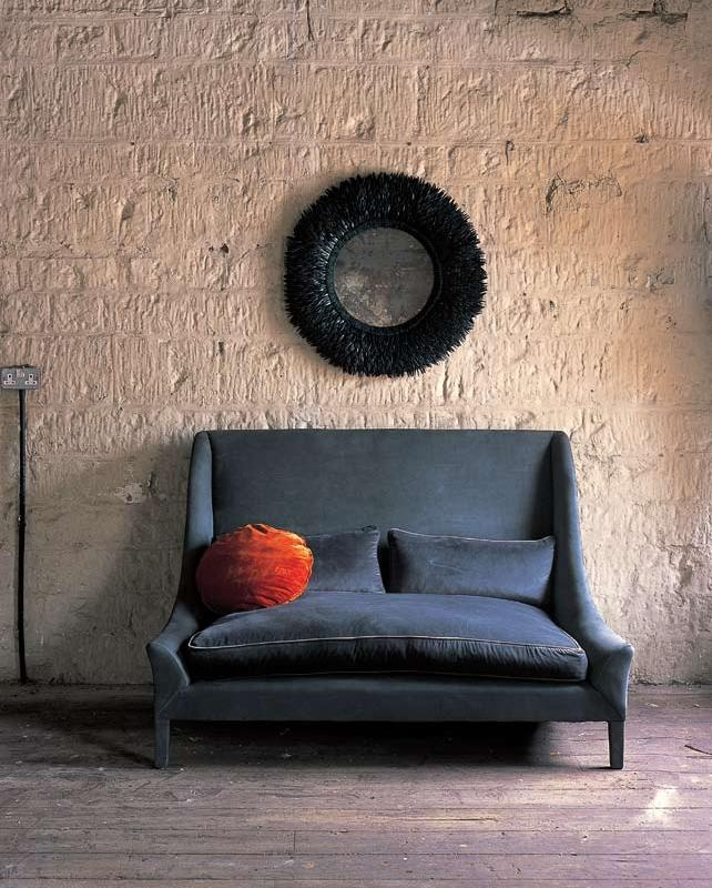 .Decor, Blue Velvet, Ochre, Contemporary Furniture, Interiors, Living Room, Snooze Sofas, Colors Schemes, Velvet Sofas