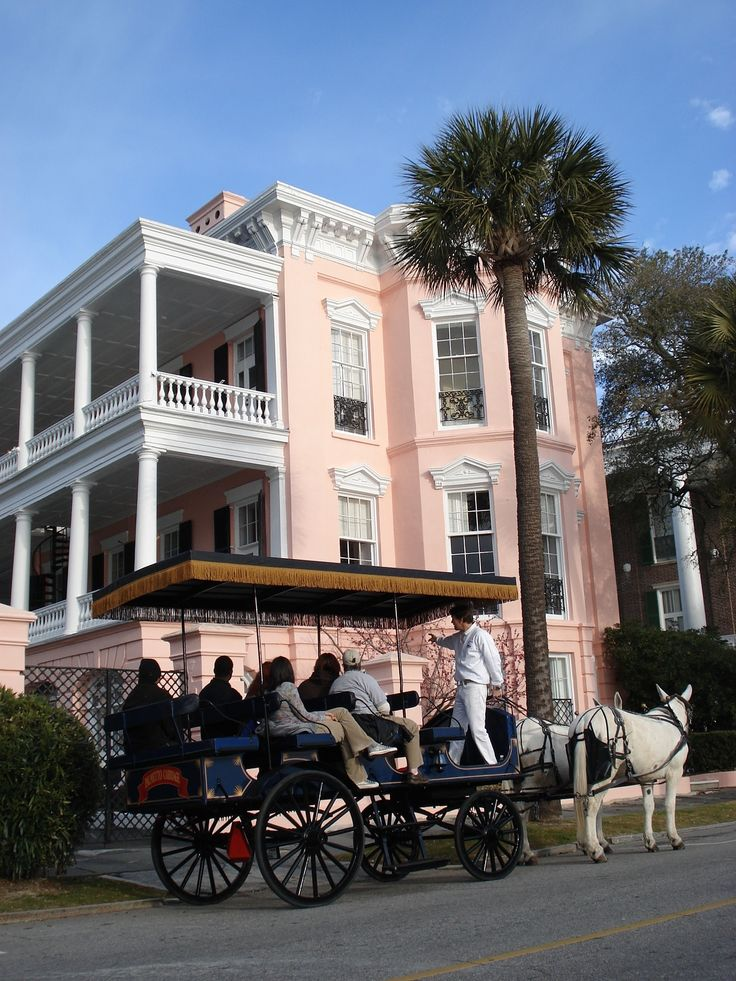 Horse Drawn Carriage is a great way to get around historic downtown Charleston! #absocharleston #charleston #palmettocarriage