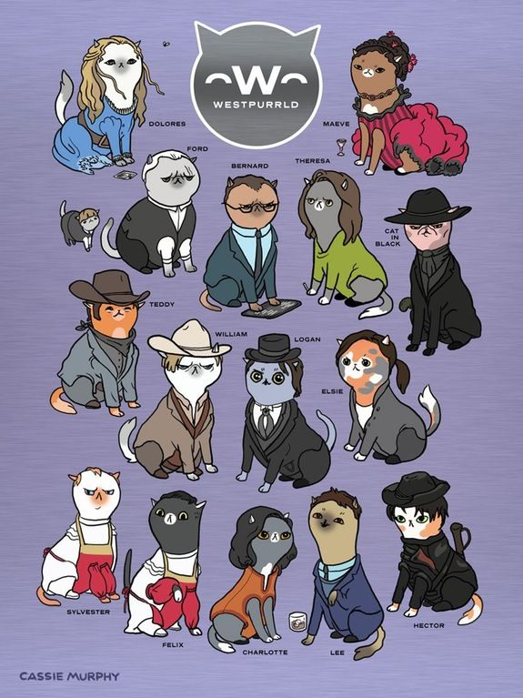 WESTPURRLD - Westworld cast as cats
