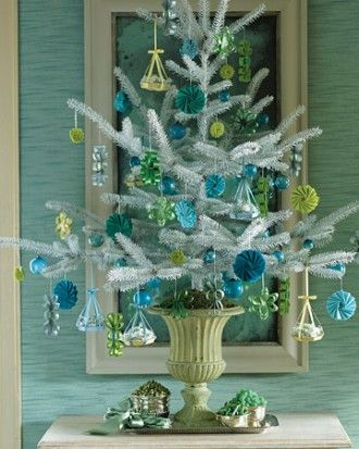 See the White Tree with Hanging-Basket Ornaments in our Christmas Trees gallery