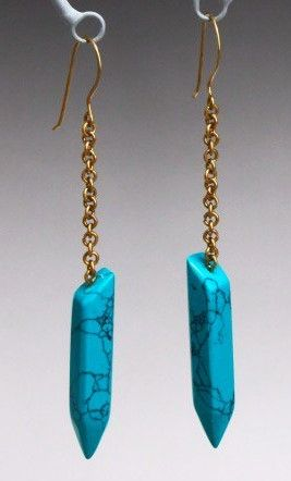 Fair Trade Turquoise Earrings // Brass Chain // Slow Fashion // Ethical Style // Summer 2017