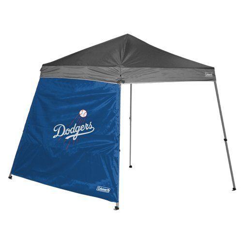 Coleman Los Angeles Dodgers MLB 8' x 8' Slant Leg Shelter Wall COL-02420011111 by Coleman. $29.79. Brand New. No rain; hail or snow will shut down your tailgate! The Coleman MLB 8'x8' tailgating shelter wall offers ample protection from the elements in team style. It's designed with your team's graphics and fits 8'x8' slant wall shelters. Shelter is not included. Availability: Usually ships within 7-10 business days.. Save 15% Off!
