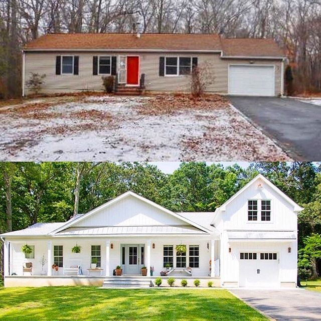 Our New House Seeking Lavender Lane Home Exterior Makeover Ranch House Remodel Ranch Style Homes