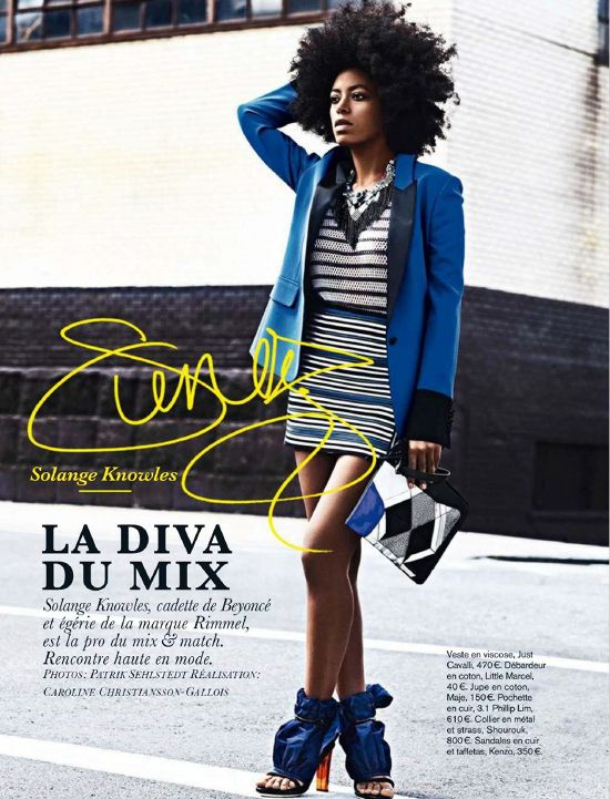 Solange....Glamming up the blues!  Love it!