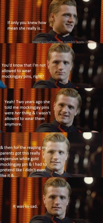 Oh my i love it. peeta melark meets gretchen weiners LOLOLOL Hunger Games and Mean Girls mashup. two of my favorite things