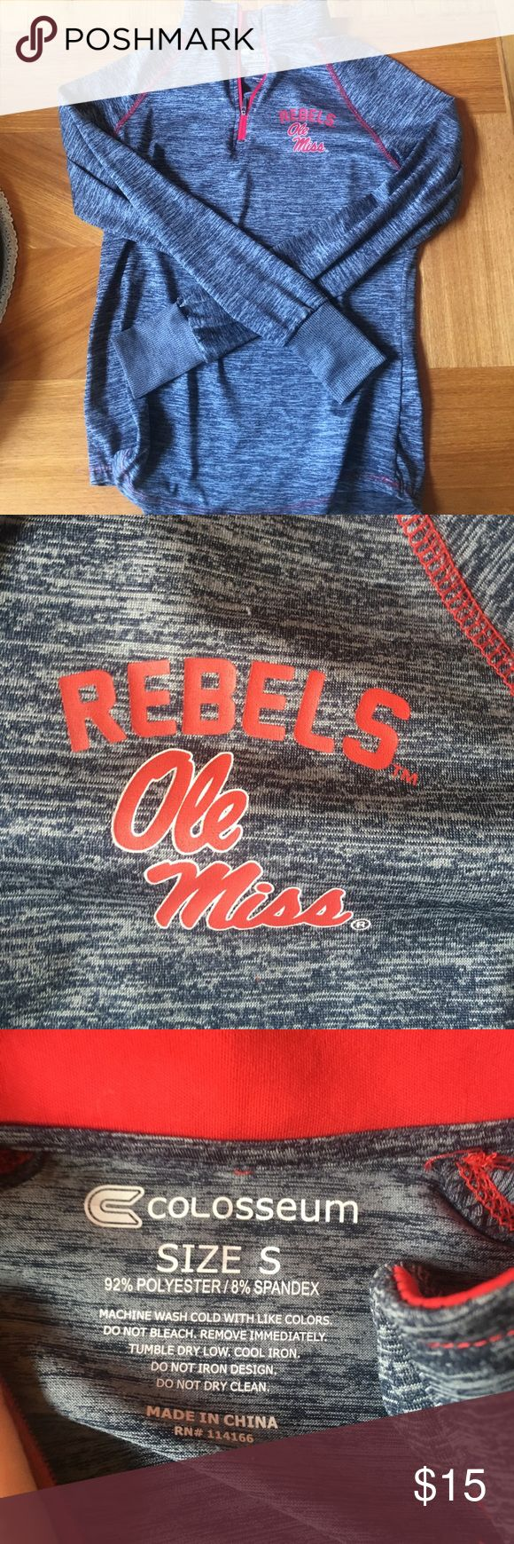 Ole Miss Athletic Pullover Perfect condition never worn. Super comfy for running or lounging. Nike Jackets & Coats