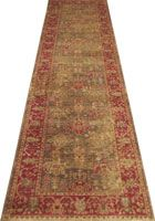Chicago Traditional Hallway Runner Rug 424A L.Brown T.Red