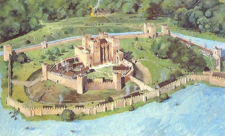 Reconstrucción del castillo de Kenilworth sobre el siglo XIII.