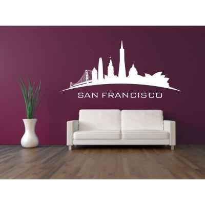 Sticker mural skyline San Francisco