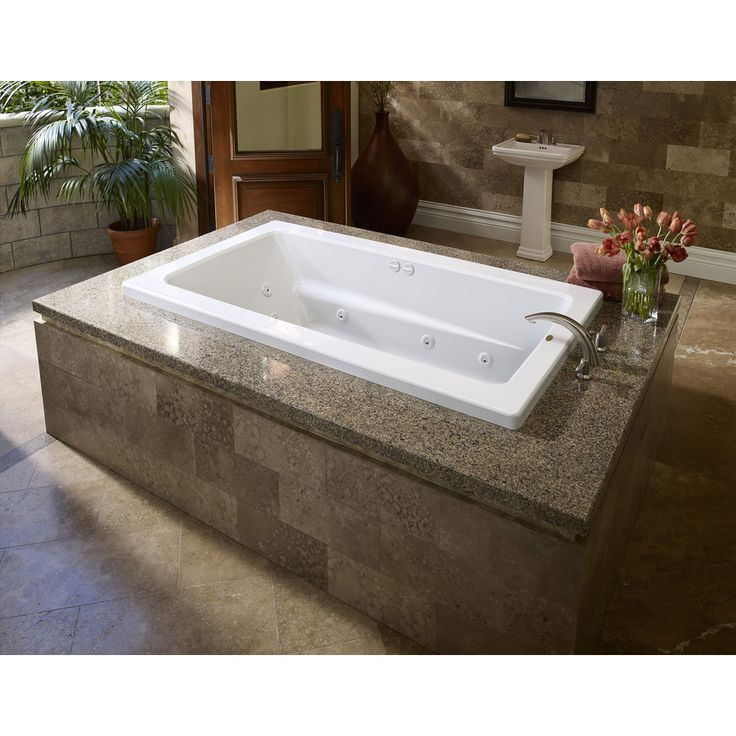 Shop Jacuzzi 72 In L X 42 In W X 21 In H Primo White Rectangular Walk In Whir