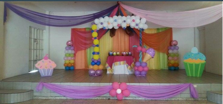 247 best images about decoraciones con telas y globos on for Decoracion con telas