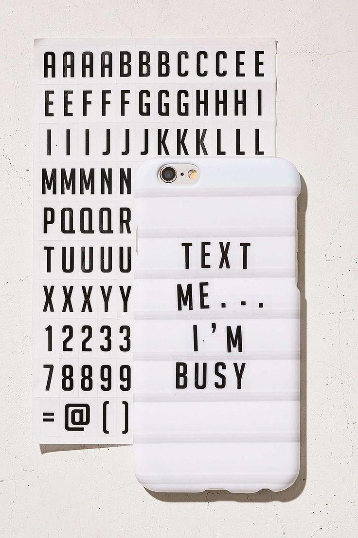 DIY-Hülle für iPhone 6/6s mit Buchstaben