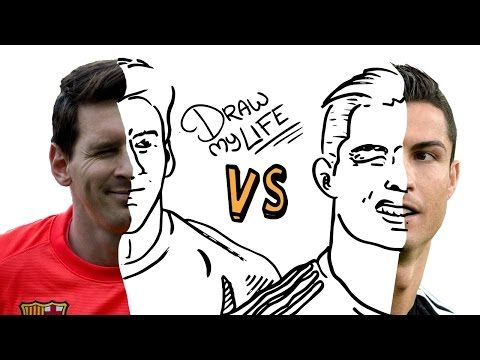 MESSI vs CRISTIANO | Draw My Life En Español - YouTube