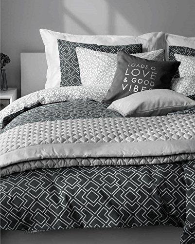 geo print duvet quilt cover cotton bedding 3pc set modern http