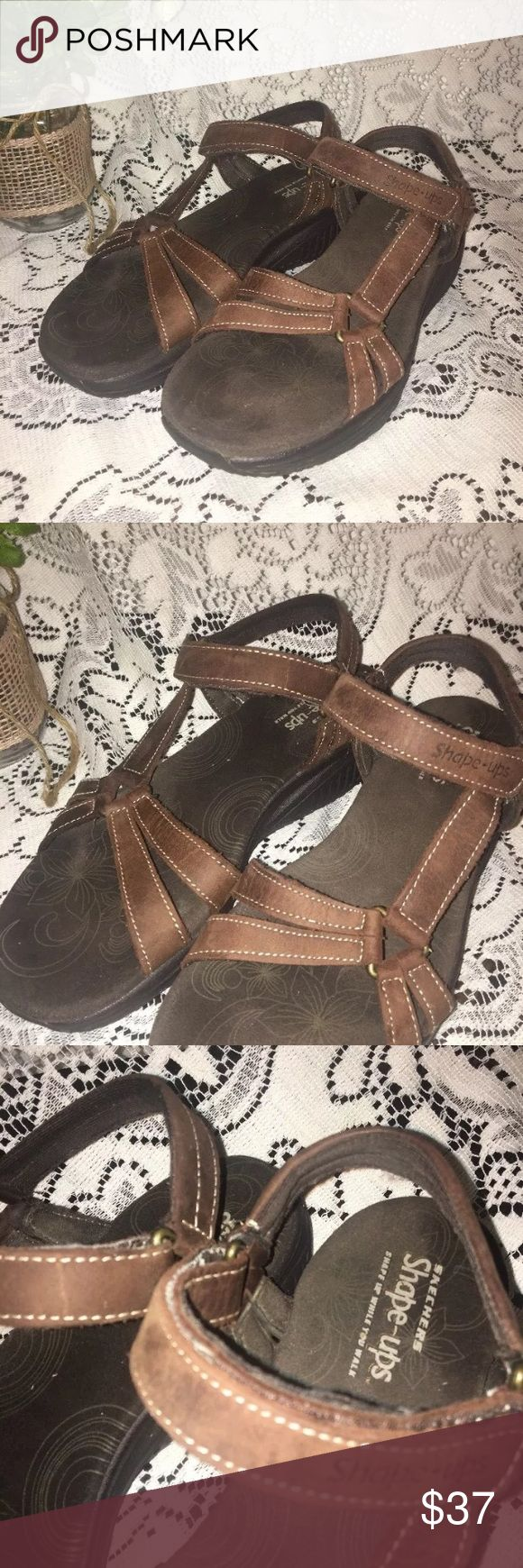 sketchers shape ups brown walking sandals size 8M Sketchers brown shape ups size 8M sandals shape ups Shoes Sandals