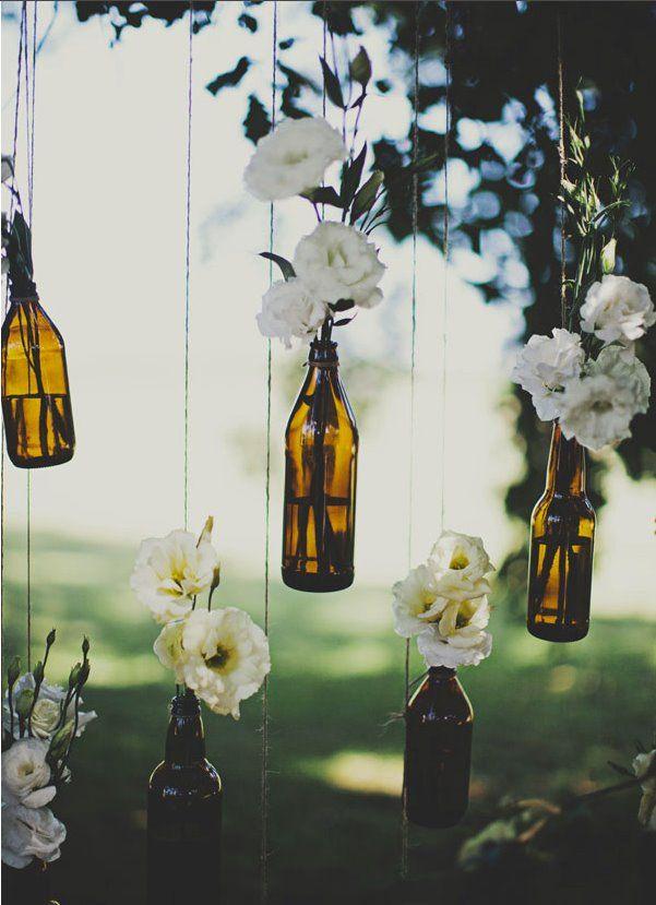mariage, wedding, decoration jar vases