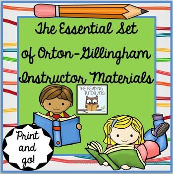 orton gillingham reading instruction