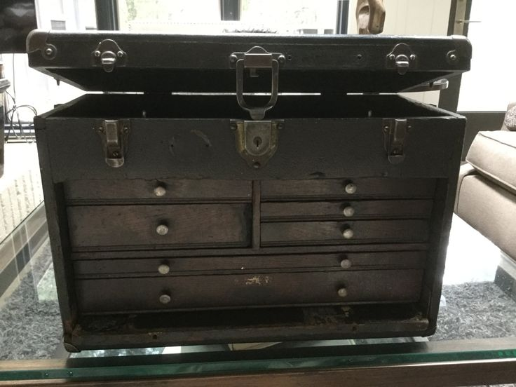 Vintage Grestner Machinists Tool Box w/ Lock and Key by Hannahandhersisters on Etsy