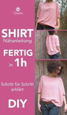 Shirt genäht in einer Stunde, DIY für Eilige #sew #nähen #Schnittmuster Shirt