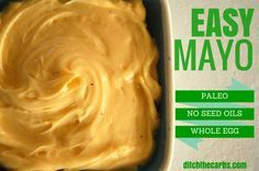 Super duper easy mayonnaise recipe which is pale, whole 30 and clean eating friendly. Only 3 ingredients plus garlic or mustard and seasoning. Sugar free, gluten free, wheat free, grain free, no preservatives, no colourings. Incredibly versatile and simple.   http://www.ditchthecarbs.com/2014/12/11/easy-mayonnaise-recipe/