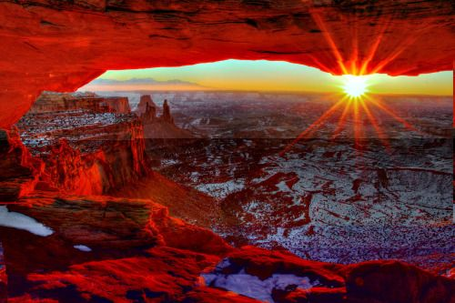 Happy New Year! Just like this gorgeous sunrise at Canyonlands National Park in Utah, we hope your new year is filled with beauty and adventure. Photo by Greg Sager (www.sharetheexperience.org).