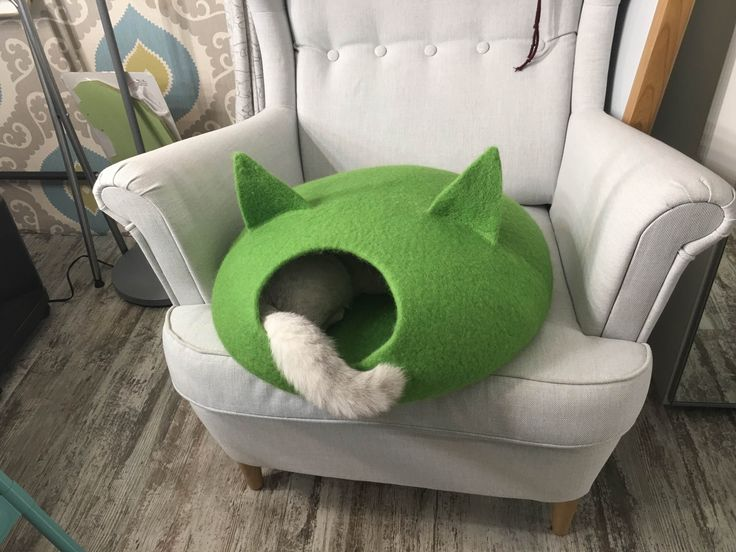 Валяный домик для кошки, дом для кошки, норка, цельноваляный дом, Cat bed, Cat cave, Cat house, Felted wool cat bed, handmade eco friendly pet bed, Cat, Cat lover gift, Cat Gift for cat love