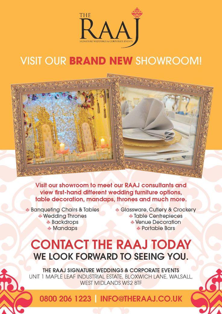 Let The RAAJ help with your upcoming #wedding #showroom #asianweddings #mandap #weddinghire #marriage