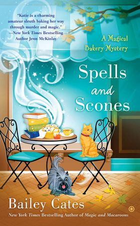 Spells and Scones by Bailey Cates   There's a body in the bookshop in this latest novel from the New York Times bestselling author of the Magical Bakery mysteries…