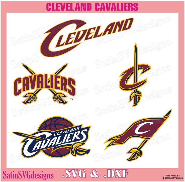 Cleveland Cavaliers Design Set SVG Files, NBA Basketball - Cricut, Silhouette Studio, Digital Cut Files, $5.89