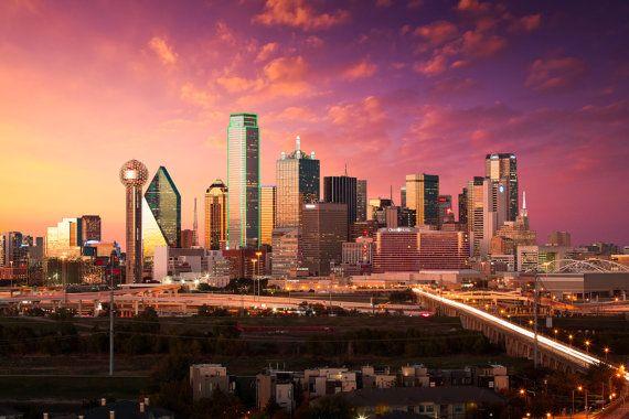 Fine Art Photo Print of the Dallas Skyline, Dallas TX, Dallas Cityscape, Texas Photography, Downtown Dallas, Dallas Art, Dallas Photography