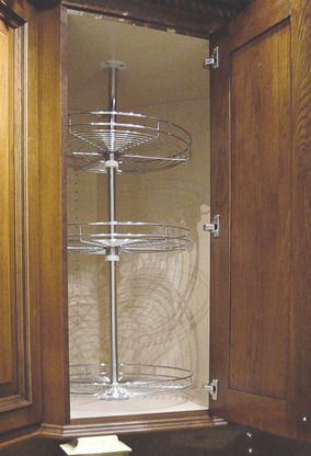 Pole Mounted Chrome Lazy Susan Shelf From Ultracraft