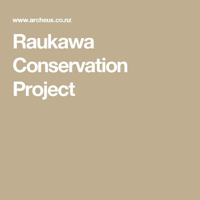 Raukawa Conservation Project