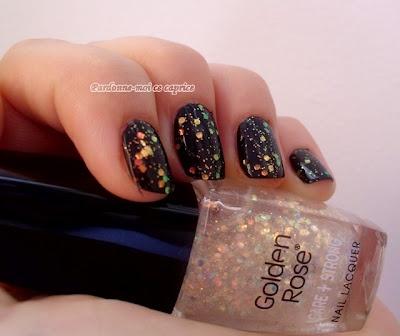 NOTD: Sparkles on my black sky   Pardonne-moi ce caprice