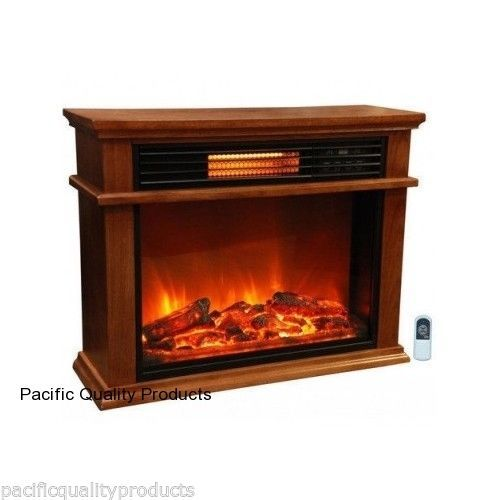 infrared fireplace deluxe mantle amish electric space heater remote infared wood unbranded. Black Bedroom Furniture Sets. Home Design Ideas