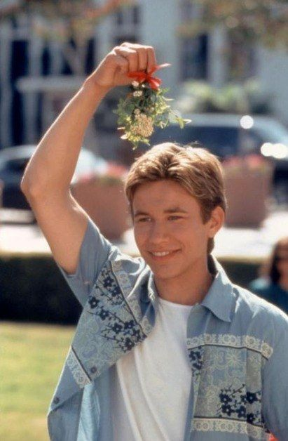 "When he made you realize mistletoe was your favorite type of plant ever. | 16 Times Jonathan Taylor Thomas Made The Thirst Real In ""I'll Be Home For Christmas"""