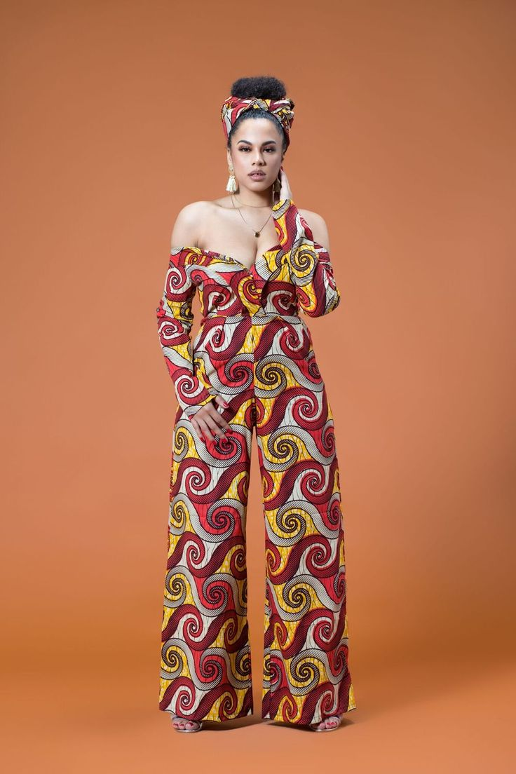 African Print Tiwa Jumpsuit| Grass-fields| Bold, Stylish and endearing