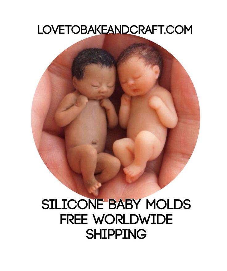 Silicone baby molds, silicone baby moulds, polymer baby, baby fairy, tiny baby, Thumbelina, lovetobakeandcraft.com