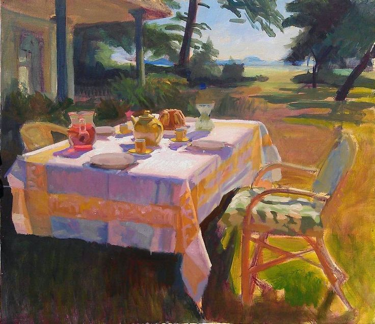 Joost Doornik Blog: Een prachtige zonnige tafel schilderdag
