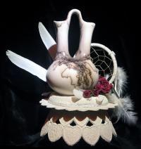 native american wedding cake topper/ #wedding vase....