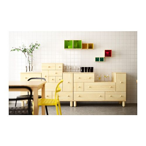 IKEA PS 2012 Add-on chest with 6 drawers  - IKEA Solid wood, pine, with add on smaller drawers, fun