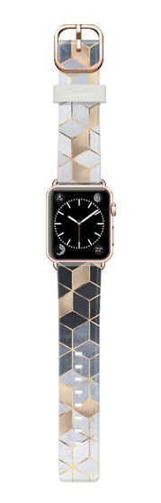 Casetify Apple Watch Band (38mm) Casetify Band - Soft Blue Gradient Cubes by Elisabeth Fredriksson #Casetify